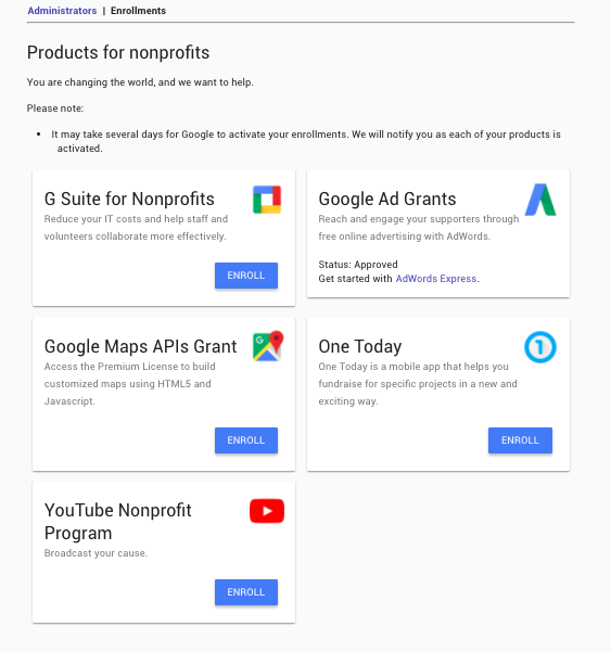 google for non profits