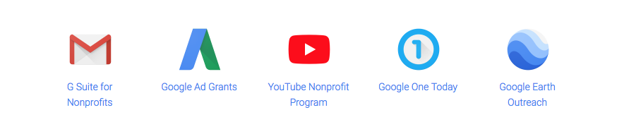 Google-for-non-profits-products